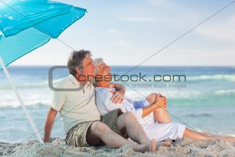 Mature couple on the beach