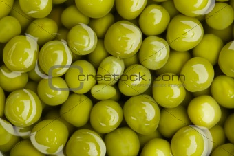 canned green peas background
