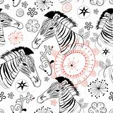 graphic patterns of zebras