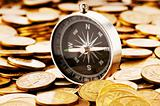 Financial concept - navigating in difficult times for markets