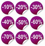 nine purple Ticket Discount for commercial use