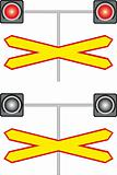 Railway crossing traffic light