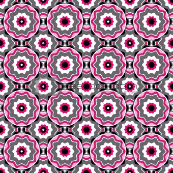 Pink-black-white-grey seamless pattern