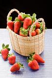 Strawberries inside a basket