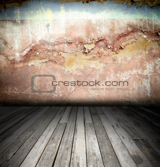 old grunge background, vintage interior