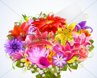 bouquet of tender flowers