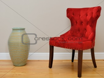 Chair and Vase