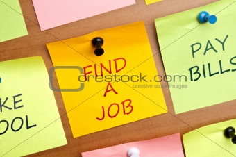 """Find a Job"" post it"