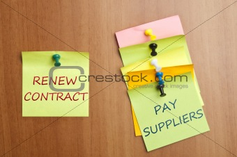 Post it with Renew Contract