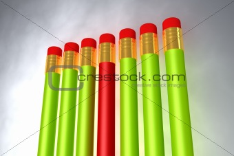 Close up of pencil rubber