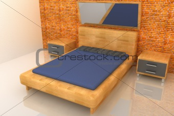 3d wood bedroom