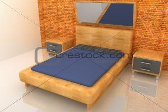 3d wood bedroom