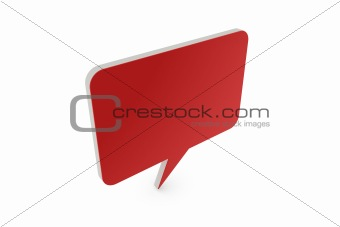 3D speech balloon