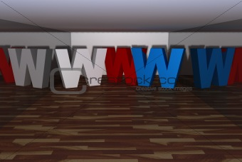three dimensional www letter