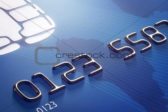 Close-up credit card (3d render)