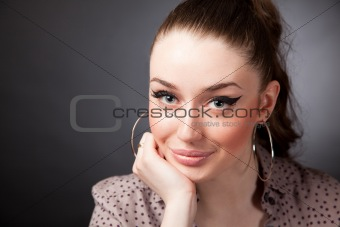Attractive smiling young woman