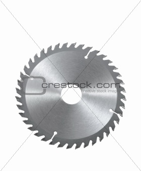 Circular saw blade for wood isolated on white