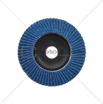 Abrasive disk for grinder isolated on white