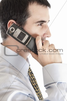 Business man with phone
