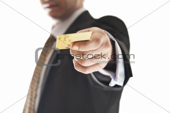 Man giving credit card