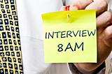 Interview 8 am