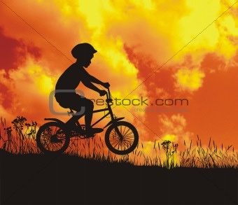 Small cyclist of nature in