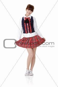 Asian school student