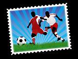 Postal soccer stamp