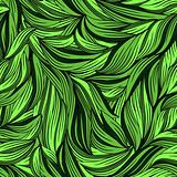 seamless abstract pattern with bright leaves