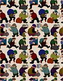 seamless thief pattern