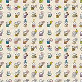 seamless people icon pattern