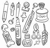 hand draw cartoon stationery icon
