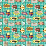 seamless label pattern