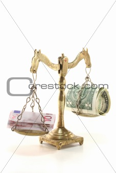 Scales with money