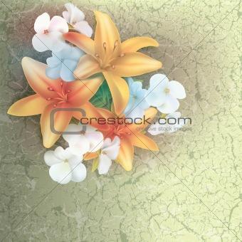 grunge floral illustration