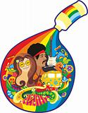 Symbol art of hippie