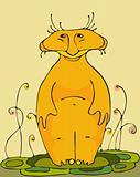 Orange  animal