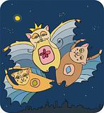Three amusing bats