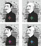 portraits of the man set