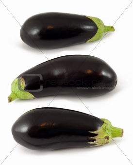 Aubergines on White