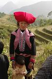 Red Dao woman with her child