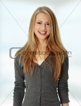 Attractive young blond woman