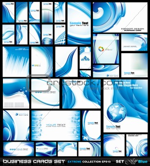 Corporate Business Card Collection: Blue Waves