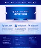 Business Webtemplate or Wordpress Blog Graphic