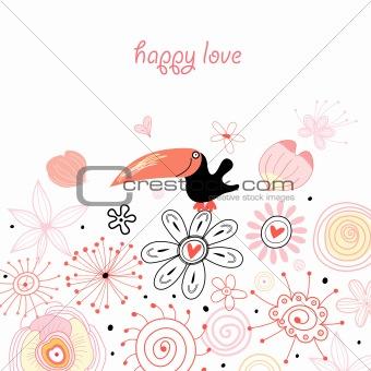 Postcard from the love bird