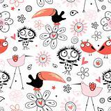 pattern  funny birds