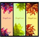 Floral vector banners