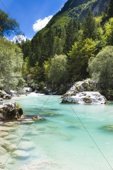 The Julian Alps in Slovenia - Soca river
