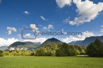 The Julian Alps in Slovenia - wiev from Bovec
