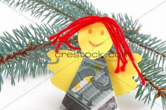 Angel made of money